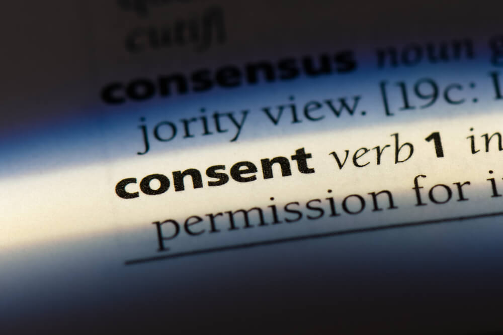consent word in a dictionary. sexual consent concept